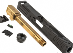 EMG SAI BLU Upgrade Steel Slide w/ Gold Barrel Kit for EMG BLU GBB Pistol ( BK ) ( G&P ) ( Model 1